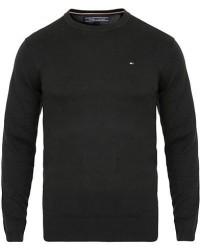 Tommy Hilfiger Cotton/Silk Crew Neck Pullover Flag Black men S Sort