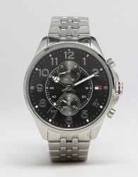 Tommy Hilfiger Dean Chronograph Bracelet Watch In Stainless Steel - Silver