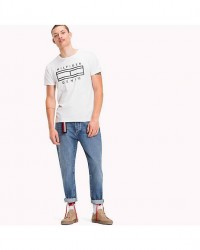 Tommy Hilfiger Denim THDM Basic cn T-Shirt DM0DM02791 (HVID, XLARGE)