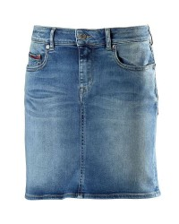 Tommy Hilfiger Denim Women DW0DW03606 Heidi Slim Denim Skirt (Denim, 28/104)