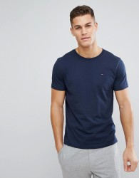 Tommy Hilfiger Flag Icon T-Shirt In Organic Cotton In Navy - Navy