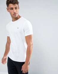 Tommy Hilfiger Flag Icon T-Shirt In Organic Cotton In White - White