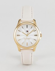 Tommy Hilfiger Lori leather watch in pink 35mm - Pink