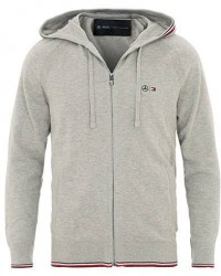 Tommy Hilfiger Mercedes Benz Full Zip Hoodie Cloud Heather men XL