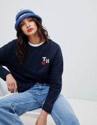 Tommy Hilfiger Tommy x Love initials logo sweatshirt - Navy