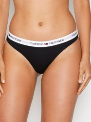 Tommy Hilfiger Underwear Cotton Thong Iconic G-streng Sort