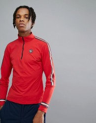Tommy Hilfiger X Rossignol Ryan Tech Quarter Zip Long Sleeve Top in Red - Red