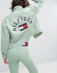 Tommy Jeans 90's Girlfriend Trucker Jacket - Green