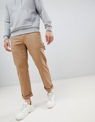 Tommy Jeans workwear tapered carpenter trousers in beige - Beige