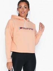 Tommy Sport Cropped Fleece Hoody Træningstrøjer
