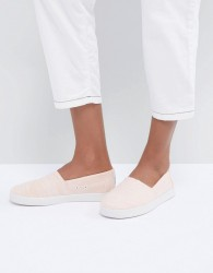 TOMS Avalon Bloom Cotton Slip On Shoes - Pink