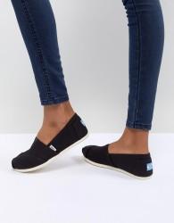 TOMS Classic Black Canvas Shoes - Black
