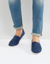 TOMS classic espadrilles in navy canvas - Navy