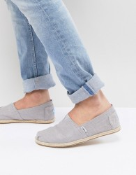 TOMS espadrilles in grey linen with rope detail - Grey