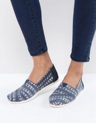 TOMS Navy Batik Alpargata Shoes - Blue