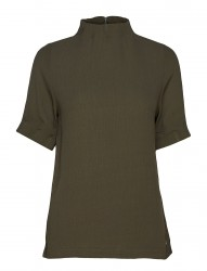Top W. Pleated High Neck