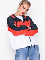 Topshop Colour Block Windbreaker Jacket Kapper & Ponchoer Red