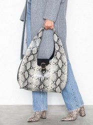 Topshop Haya Snake Effect Hobo Bag Håndtaske Nature