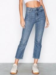 Topshop MOTO Mid Blue Straight Jeans Skinny Mid Blue