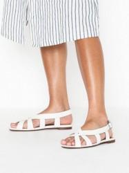 Topshop OPAL White Cross Front Sling Sandals Sandaler