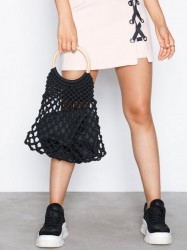 Topshop String Shopper Bag Håndtaske Black