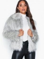 Topshop Tipped Faux Fur Coat Faux fur