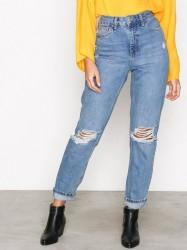 Topshop Topshop MDT Rip Mom Jeans Loose fit Denim