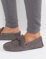 Totes Moccasin Slippers - Grey