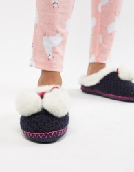 Totes Mule Slippers - Navy