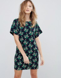 Traffic People Cactus Print Shift Dress - Multi