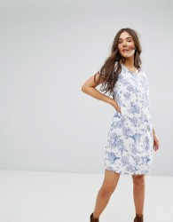 Traffic People Floral Shift Dress - White