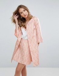 Traffic People Jacquard Coat - Pink