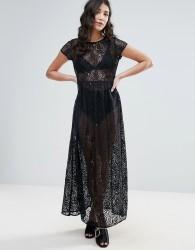 Traffic People Lace Maxi Dress - Black