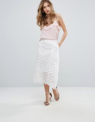 Traffic People Lace Midi Skirt - White