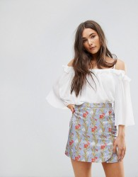 Traffic People Off The Shoulder 3/4 Sleeve Top - White