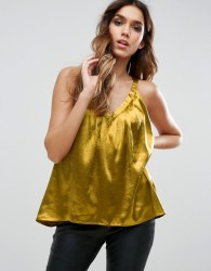 Traffic People Racer Back Top - Gold