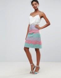 Traffic People Rainbow Lace Skirt - Pink