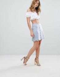 Traffic People Scallop Edge Mini Skirt - Blue