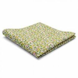 Trendhim Grøn Abstrakt Design Bomulds Lommeklud