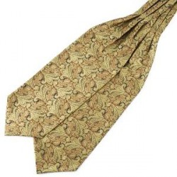 Trendhim Gylden Paisley Polyester Kravat