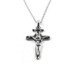 Trendhim Kvinde Kors Stålhalskæde
