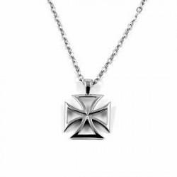 Trendhim Malteser Kors Stålhalskæde