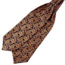 Trendhim Marineblå & Orange Paisley Kravat i Polyester