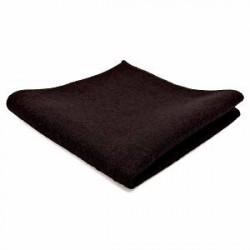 Trendhim Mørkebrun Håndlavet Lommeklud i Uld