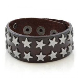 Trendhim Mørkebrunt Stjernelæderarmbånd