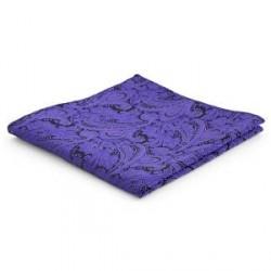 Trendhim Mørkelilla Paisley Lommeklud i Polyester