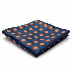 Trendhim Orangeprikket Silke Lommeklud