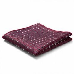 Trendhim Rødt Lommetørklæde med Gobelinmøsnter