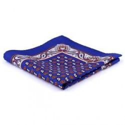 Trendhim Royal Fantasifuld Blå Lommeklud i Silke