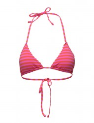 Triangle Bikini Top With Scallop Or Embroidered Edges